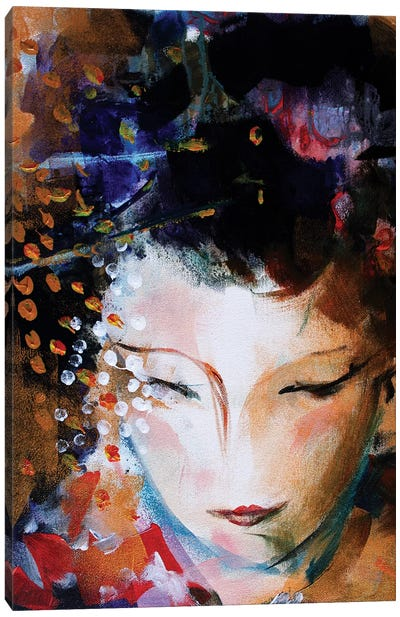 Geisha Face Canvas Art Print