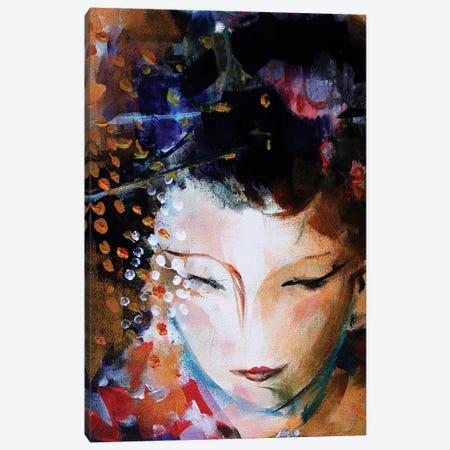 Geisha Face Canvas Print #MDP22} by Marina Del Pozo Canvas Art Print