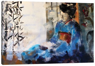 Geisha Sleeping Canvas Art Print
