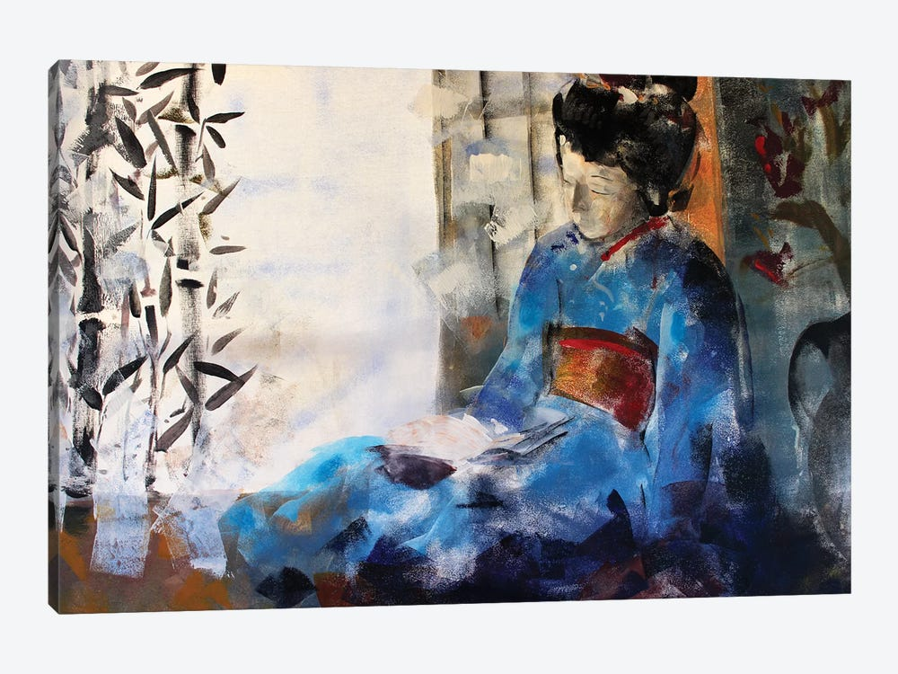 Geisha Sleeping by Marina Del Pozo 1-piece Canvas Art Print