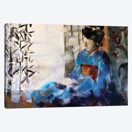 Geisha Sleeping Canvas Print #MDP23} by Marina Del Pozo Canvas Art Print
