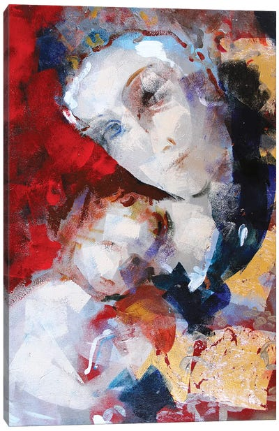 Gold Madonna I Canvas Art Print
