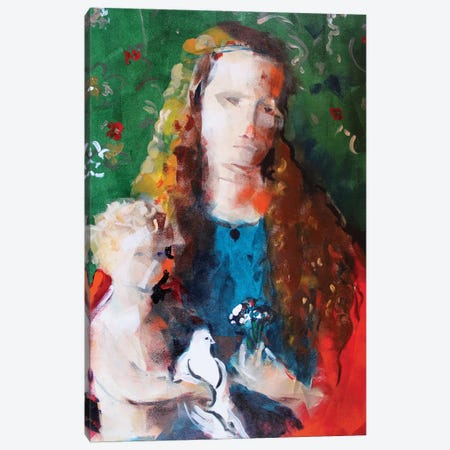 Green Madonna Canvas Print #MDP26} by Marina Del Pozo Canvas Artwork