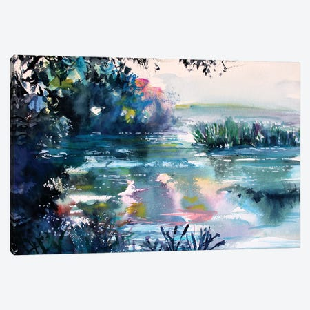Lake Canvas Print #MDP28} by Marina Del Pozo Art Print
