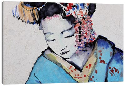 Little Geisha I Canvas Art Print