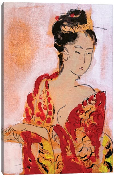 Little Geisha III Canvas Art Print