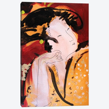 Little Geisha IV Canvas Print #MDP32} by Marina Del Pozo Canvas Art