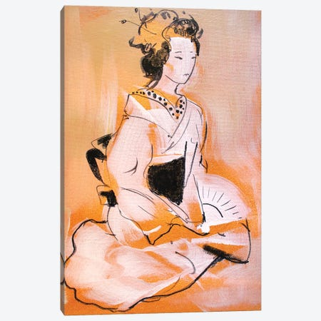 Little Geisha V Canvas Print #MDP33} by Marina Del Pozo Canvas Wall Art