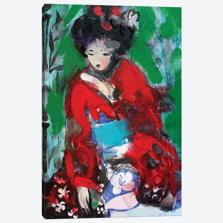 Little Geisha Number I Canvas Print #MDP35} by Marina Del Pozo Art Print