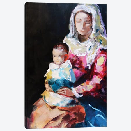 Madonna XVII Canvas Print #MDP39} by Marina Del Pozo Canvas Artwork