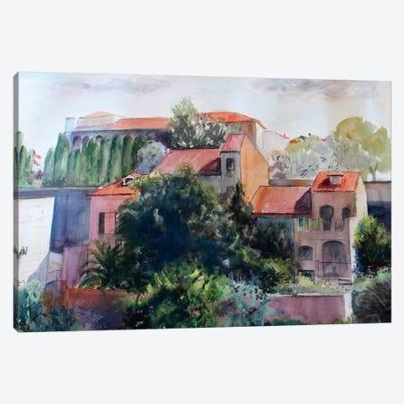 Old City Canvas Print #MDP44} by Marina Del Pozo Canvas Art