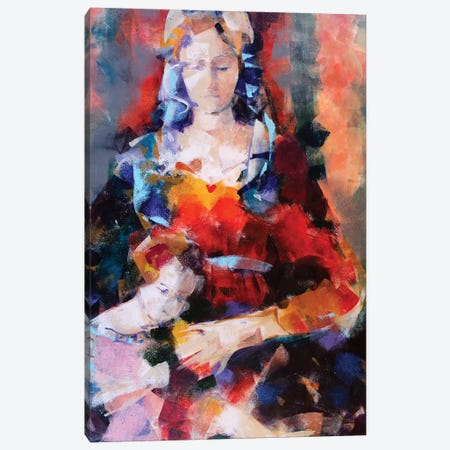 Orange Madonna Canvas Print #MDP46} by Marina Del Pozo Canvas Wall Art