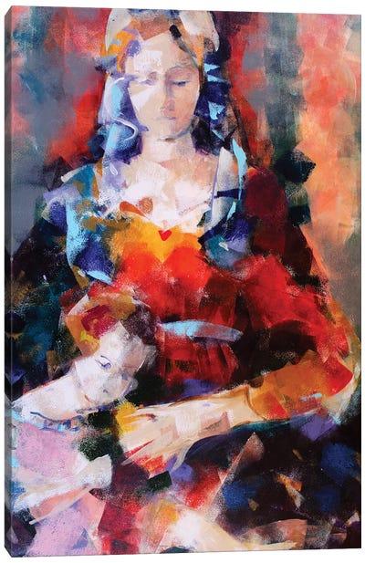 Orange Madonna Canvas Art Print