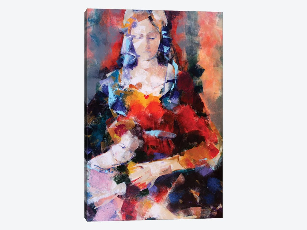 Orange Madonna by Marina Del Pozo 1-piece Canvas Artwork