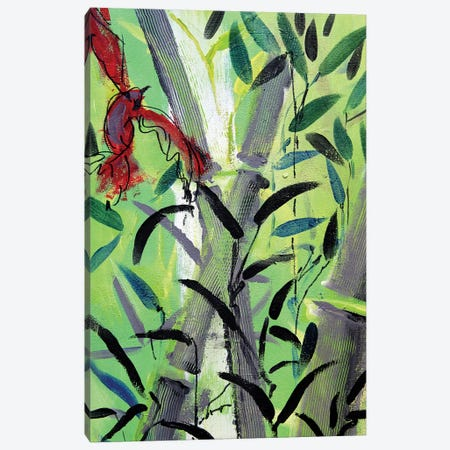 Red Bird I Canvas Print #MDP49} by Marina Del Pozo Art Print