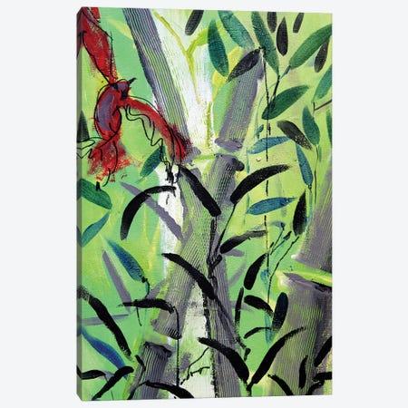 Red Bird I Canvas Print #MDP49} by Marina Del Pozo Art Print