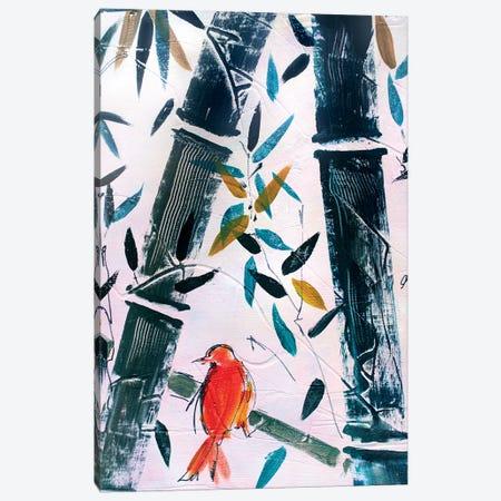 Red Bird II Canvas Print #MDP50} by Marina Del Pozo Canvas Art