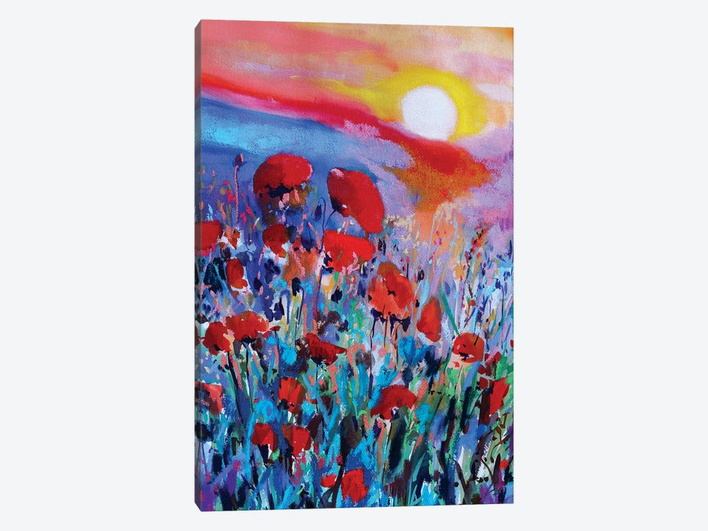 Red Flowers I by Marina Del Pozo 1-piece Canvas Art Print
