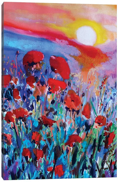 Red Flowers I Canvas Art Print