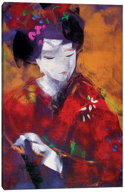 Red Geisha I Canvas Art Print
