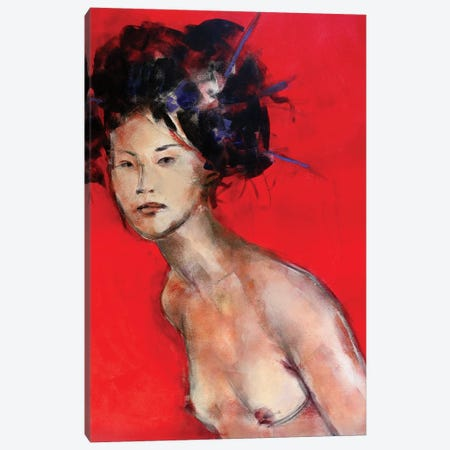 Red Geisha II Canvas Print #MDP54} by Marina Del Pozo Canvas Art Print