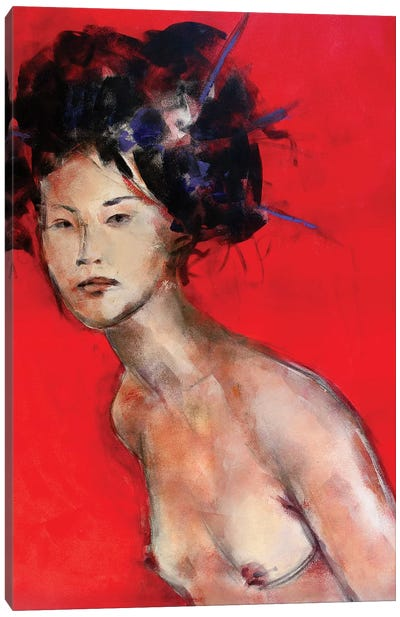 Red Geisha II Canvas Art Print