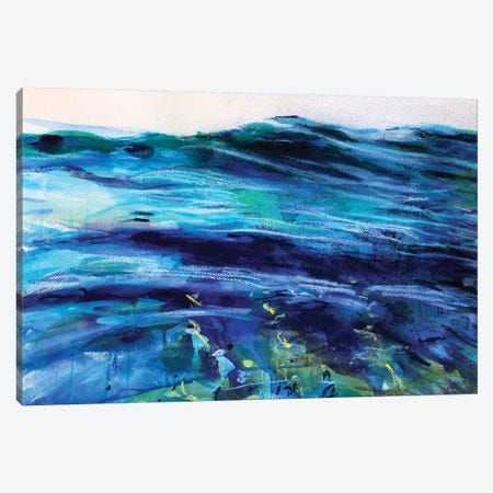 Slow Wave Canvas Print #MDP56} by Marina Del Pozo Art Print