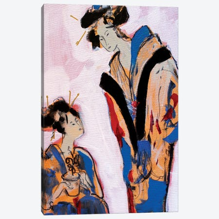 Two Geishas II Canvas Print #MDP59} by Marina Del Pozo Canvas Artwork