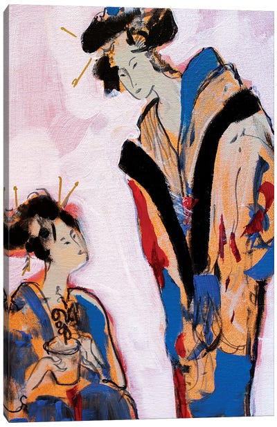 Two Geishas II Canvas Art Print
