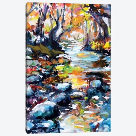 The River Canvas Print #MDP66} by Marina Del Pozo Canvas Wall Art