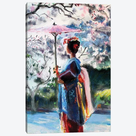 The Umbrella Canvas Print #MDP69} by Marina Del Pozo Art Print