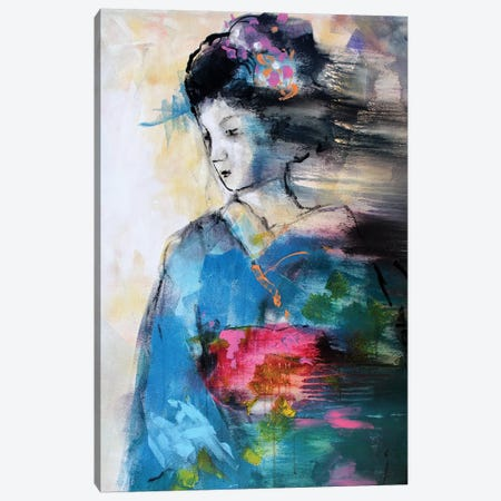 Blue Geisha Canvas Print #MDP6} by Marina Del Pozo Canvas Wall Art