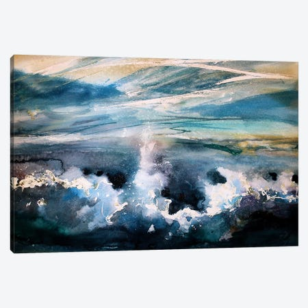 The Wave Canvas Print #MDP70} by Marina Del Pozo Canvas Art