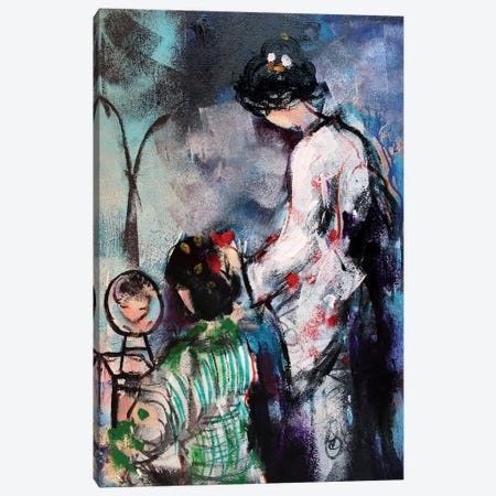 Two Geishas I Canvas Print #MDP73} by Marina Del Pozo Canvas Art