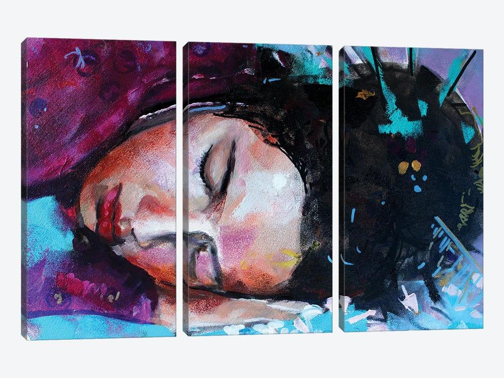 Geisha by Marina Del Pozo 3-piece Canvas Wall Art