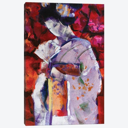 Geisha IV Canvas Print #MDP84} by Marina Del Pozo Canvas Wall Art