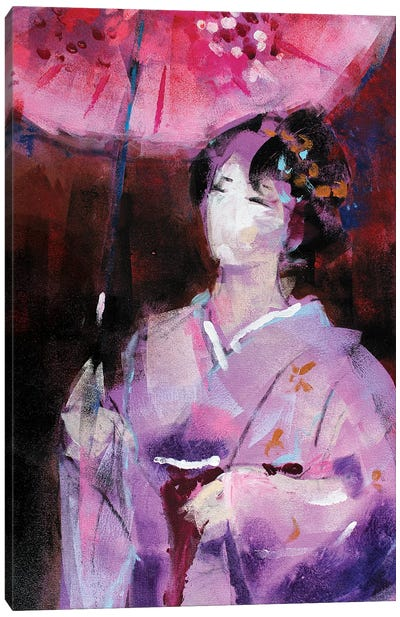 Geisha V Canvas Art Print