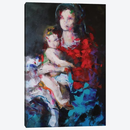 Madonna And Child Canvas Print #MDP88} by Marina Del Pozo Canvas Art Print