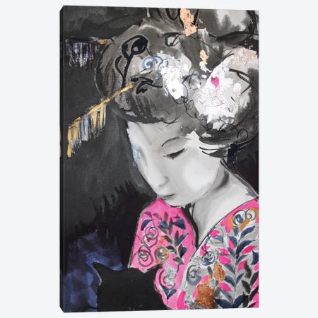 Sumi-E Gheisa Canvas Print #MDP92} by Marina Del Pozo Canvas Artwork