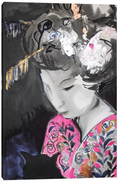 Sumi-E Gheisa Canvas Art Print