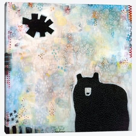 Bear Under A Black Sun Canvas Print #MDR12} by Madara Mason Canvas Artwork