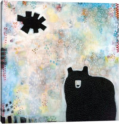 Bear Under A Black Sun Canvas Art Print