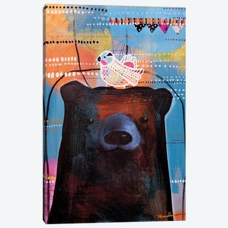 Bird Brained I Canvas Print #MDR13} by Madara Mason Canvas Wall Art