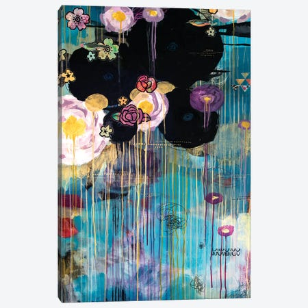 Black Long  Canvas Print #MDR15} by Madara Mason Art Print