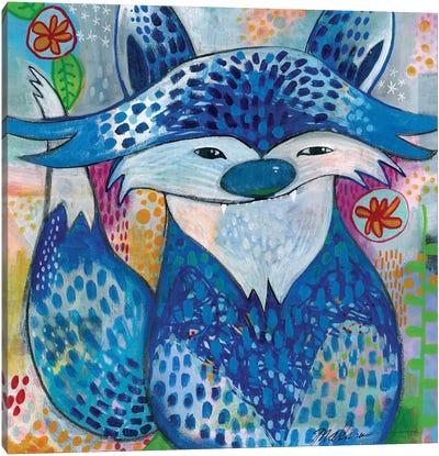 Blue Fox Canvas Art Print