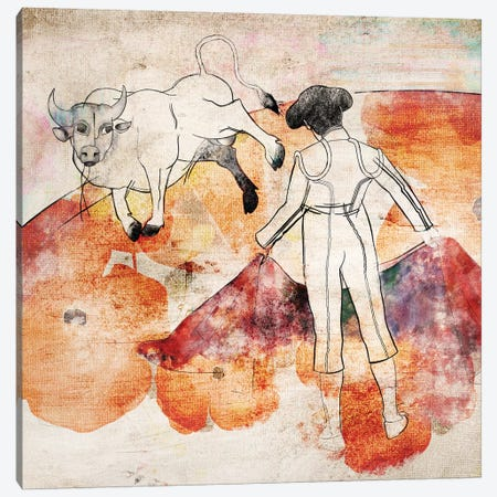Bullfight Canvas Print #MDR18} by Madara Mason Canvas Artwork