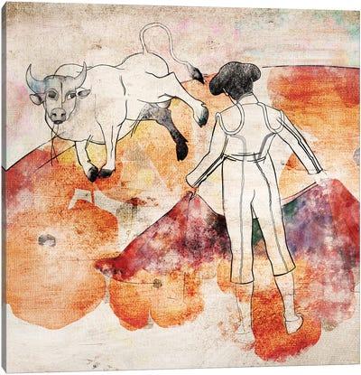 Bullfight Canvas Art Print