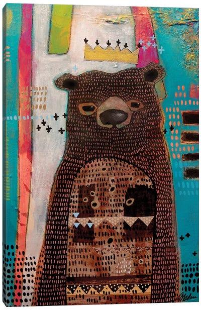 A Bear And A King Canvas Art Print