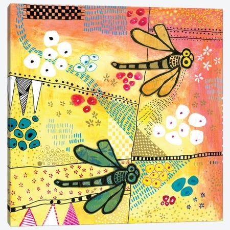 Flight Of The Dragonfly Canvas Print #MDR25} by Madara Mason Canvas Wall Art