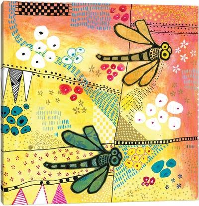 Flight Of The Dragonfly Canvas Art Print